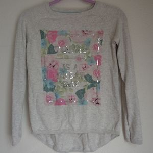 Sequin high low sweater